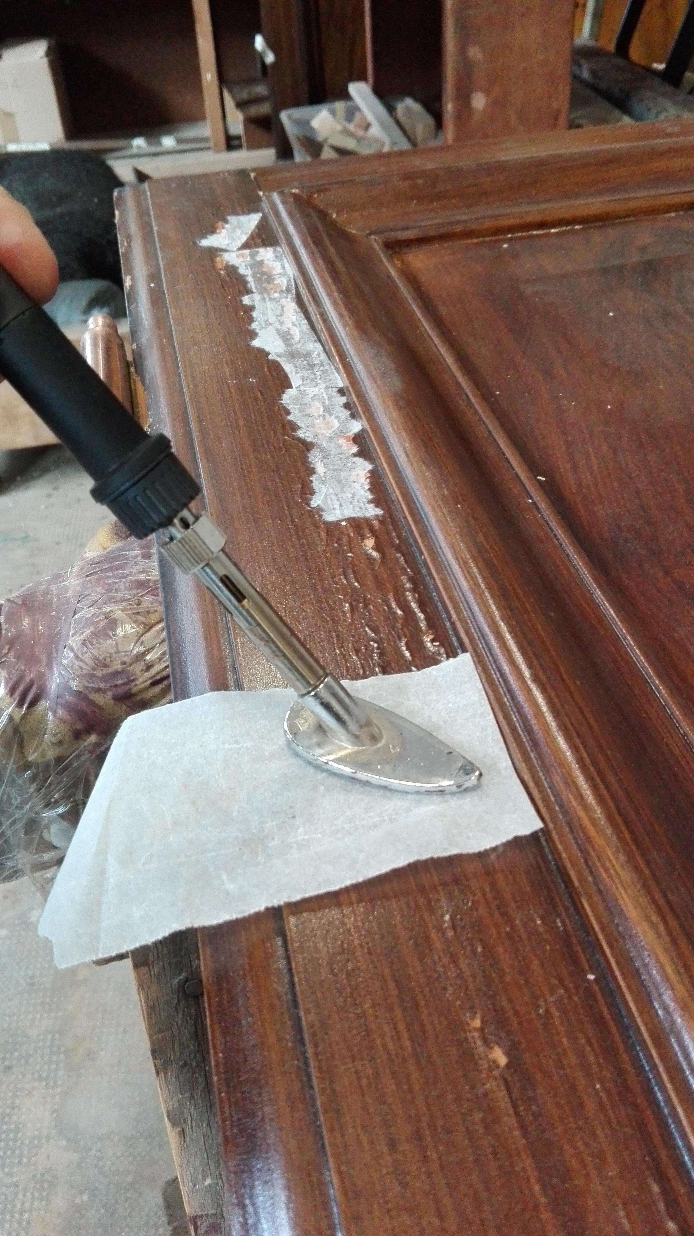 Restauro Decorazione a finto legno