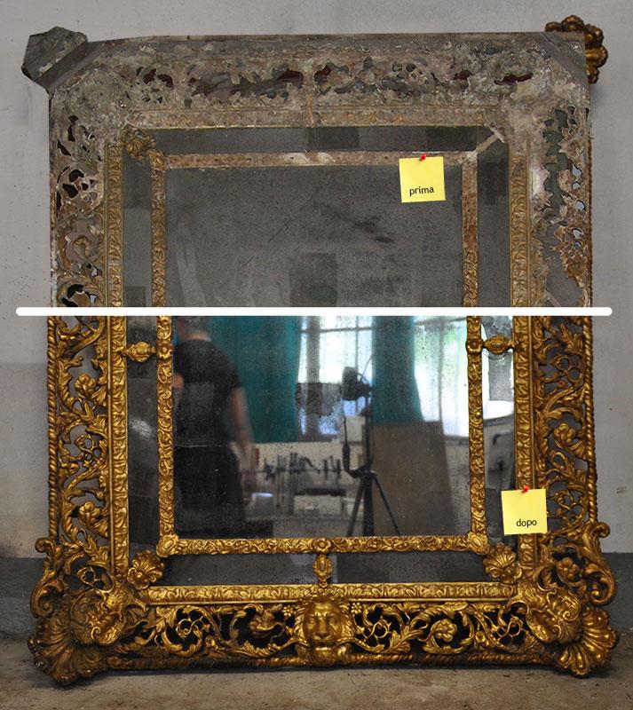 Restauro di una Specchiera dorata