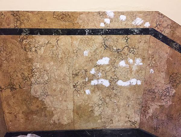 Stuccatura finto marmo